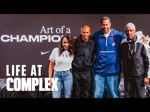 NIKE ART OF A CHAMPION EXHIBIT (Feat. Ray Allen, Rasheed Wallace, & Julius Erving) | #LIFEATCOMPLEX