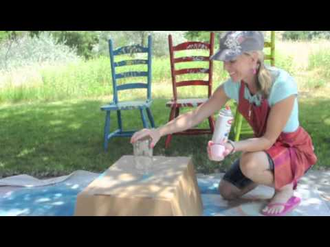 Spray Painted Polka Dot Jar