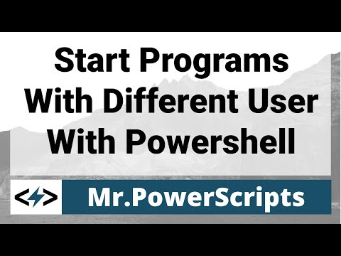 Quickly start programs under a different user account !