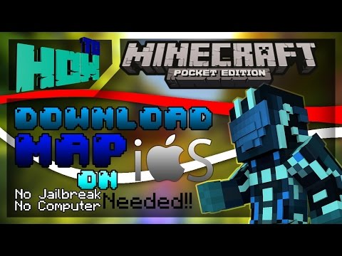 MCPE Tutorial! How to DOWNLOAD MAPS ON IOS WITH OUT JAILBREAK OR PC! [0.10.0 - 0.10.4]