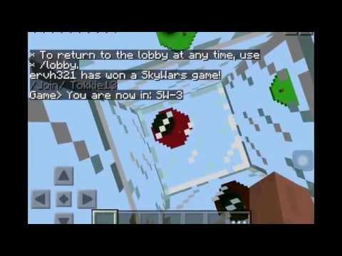 Minecraft skywars tablet edition deel 4: Epic snowball kill