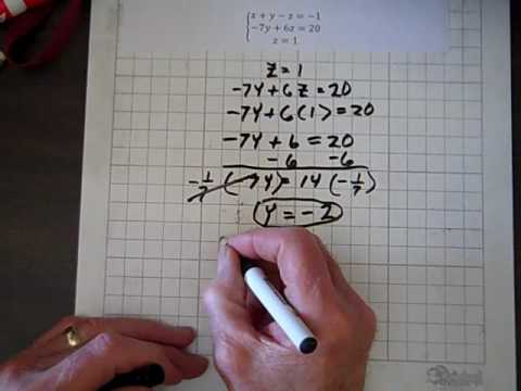 Introductory Algebra Three Equations Three Unknowns