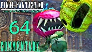 Final Fantasy XII The Zodiac Age Walkthrough Part 64 - Mandragoras Boss Battle Sochen Cave Palace