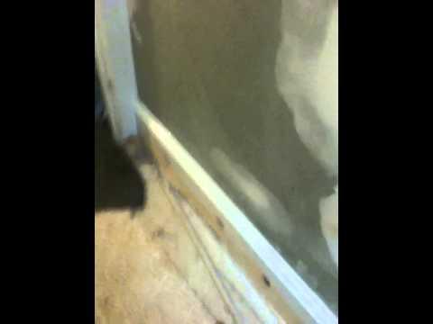 how to install crown molding , chair railing and baseborad / bathroom job