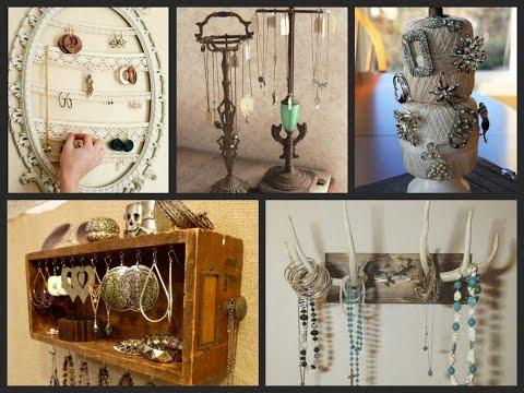 DIY Jewelry Organizer Ideas - DIY Home Organization Ideas