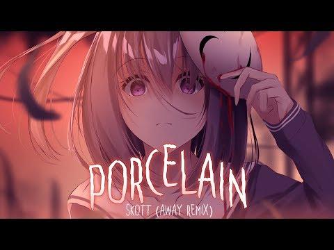 ◤Nightcore◢ ↬ Porcelain [lyrics | AWAY REMIX]