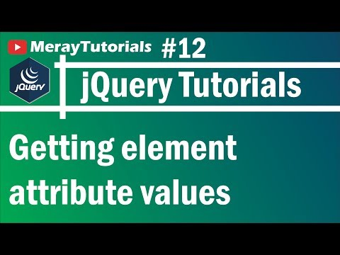 jQuery: 12 - Getting element attribute values