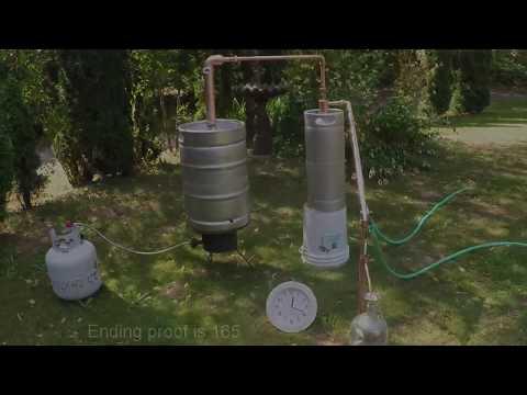 Olympic Distillers - Beer Keg Still with Thumper- Spirit Run