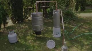 Olympic Distillers Beer Keg Still With Thumper Spirit Run