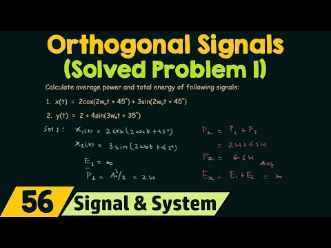 Orthogonal Signals (Solved Problems 1)