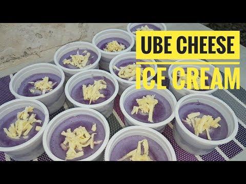 Ube Cheese Ice Cream (no ice cream maker)