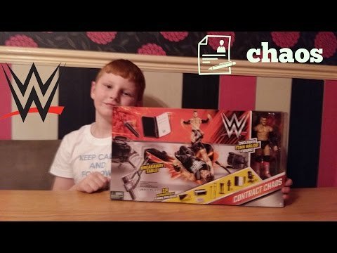 wwe toys  contract chaos  playset