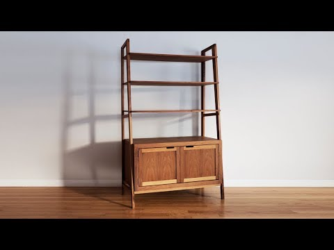How To Make A Mid Century Modern Bookcase | Woodworking