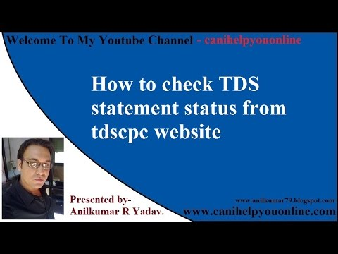 How to check TDS statement status from tdscpc website