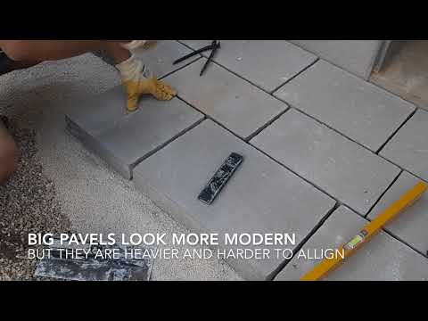 How to build a Modern Concrete Paver. Yitung ריצוף באבן משתלבת - איטונג
