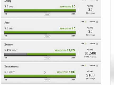 Setting financial goals in Quicken Online