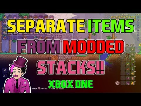 Separate Items From Modded Stacks In Terraria 1.3 XBOX ONE - WORKS 100% (WATCH TO UNDERSTAND)