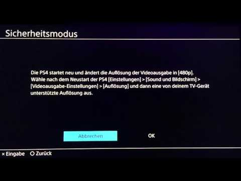 PS4 - Sicherheitsmodus Tutorial