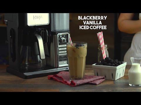 Blackberry Vanilla Cream Iced Coffee