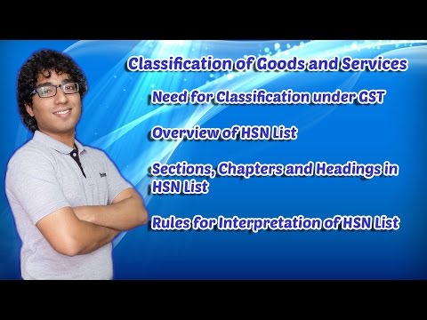 Classification of Goods in GST