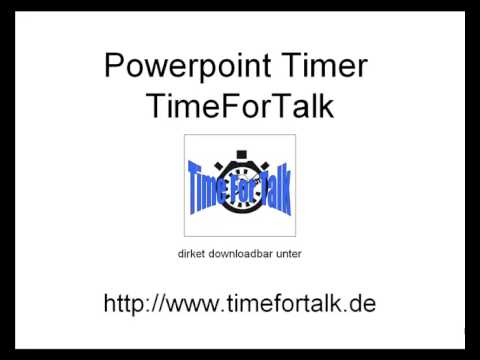 Powerpoint Timer at http://www.timefortalk.de