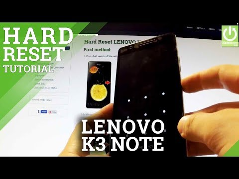 How to factory reset LENOVO K3 Note - Hard Reset in TWRP Recovery