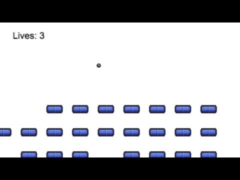 Build a JavaScript breakout game with Phaser: Handling a lost ball (12/14)