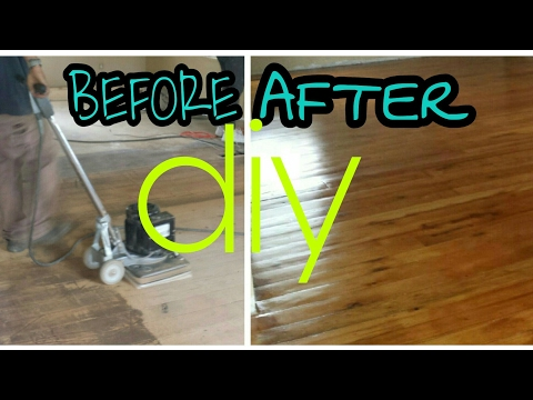 How we refinished 100 year old original pine wood floor- Diy