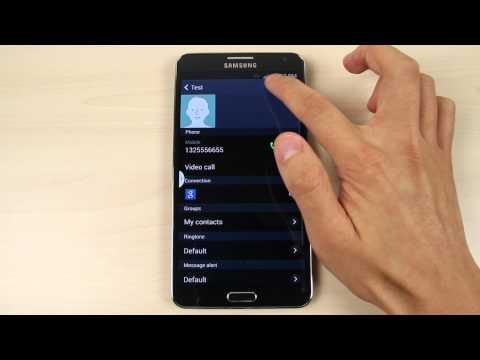 How to add, delete and add a photo to a contact on Samsung Galaxy Note 3