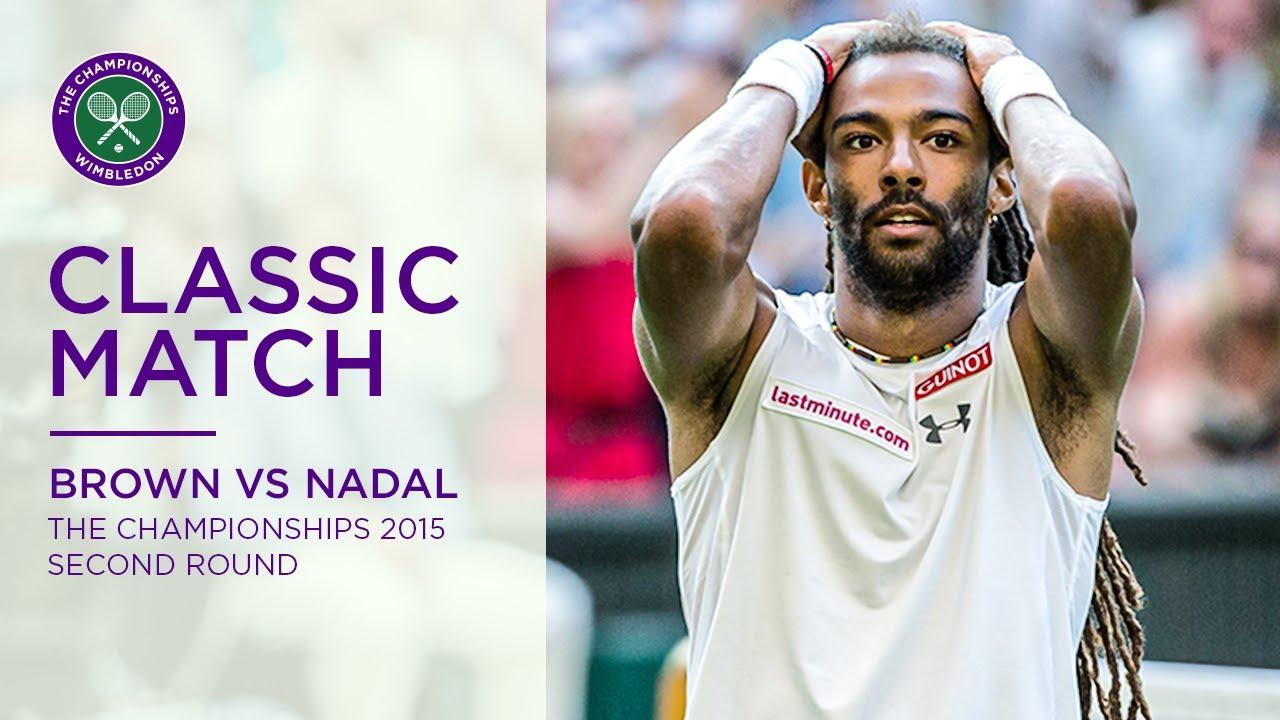 Dustin Brown vs Rafael Nadal   Wimbledon 2015 second round   Full Match