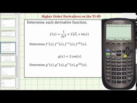 Determine Higher Order Derivatives on the TI-89
