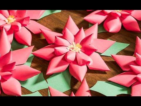 Quick 'n' Crafty: Do-It-Yourself Paper Poinsettias
