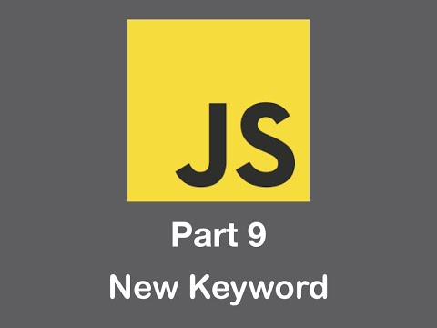 JavaScript - Introduction to the NEW key word in Objects with Javascript - Lesson 9