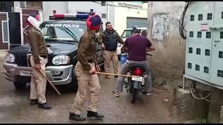 Police ki pitai in panjab / Corona lockdown Plz stay in home
