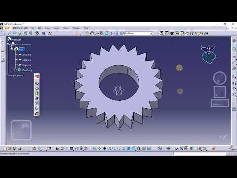 Catia  V5 | Part Design | Sketcher | How to Draw a Spur Gear