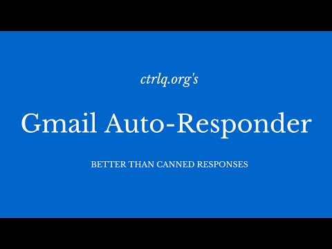 Email Autoresponder for Gmail