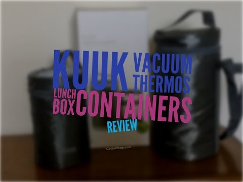 Kuuk Vacuum Thermos Lunch Box Container Set Review