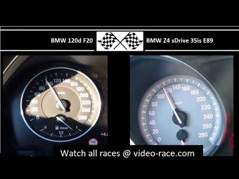 BMW 120d F20 VS. BMW Z4 sDrive 35is E89 - Acceleration 0-100km/h