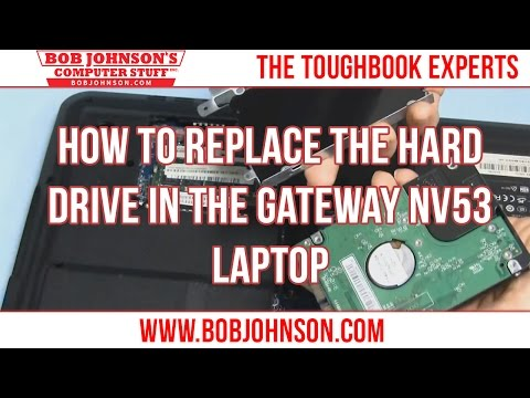How to replace the Hard drive in the Gateway NV53 Laptop