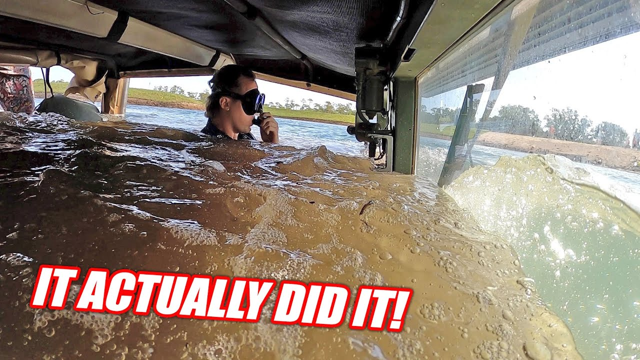 Driving Underwater EP.5 - The HUMVEE Crosses Its First Pond!!! BUT, We Must Go DEEPER!
