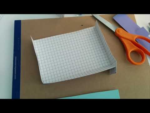 How to make a halfpipe for a paper roller coaster