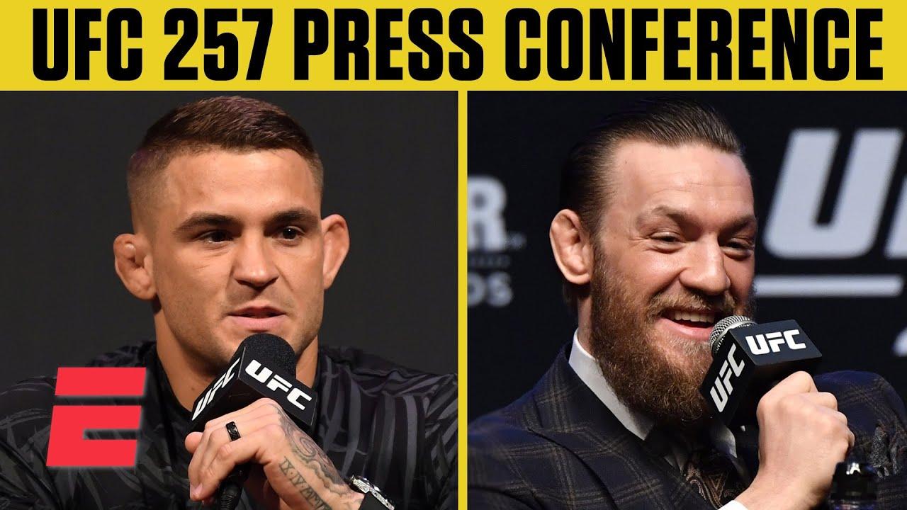 UFC 257: Dustin Poirier vs. Conor McGregor 2 Press Conference | ESPN MMA