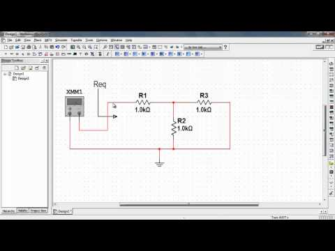 NI Multisim: Measure resistance with an ohmmeter