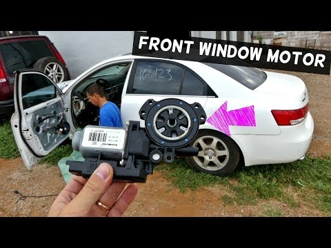 HOW TO REPLACE REMOVE FRONT WINDOW MOTOR ON HYNDAI SONATA