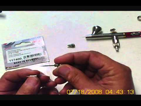 Nozzle cleaning kit for Harder & Steenbeck airbrushes