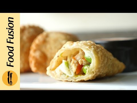 Chicken & Cheese half moon recipe by Food Fusion