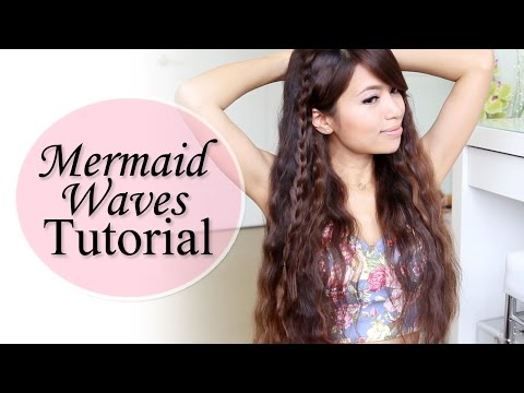 Mermaid Waves Hair Tutorial feat. NuMe Pentacle Wand Deep Waver