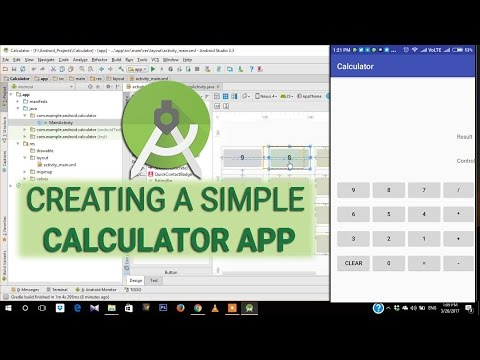 Calculator App Tutorial E01 - Creating a Simple Calculator Layout in Android Studio 2.3