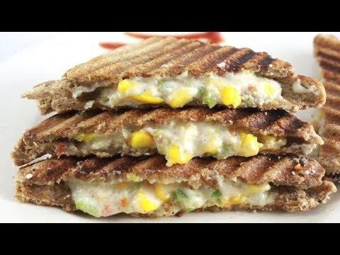 Cheese Corn Sandwich Recipe in Hindi