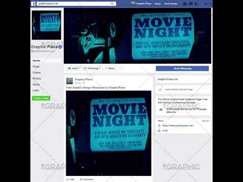 Movie Night - Social Media Video Template for Facebook